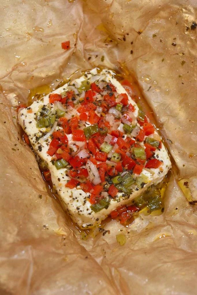 Feta Käse vom Grill mit Gemüse-Grillkäse-ballesworld