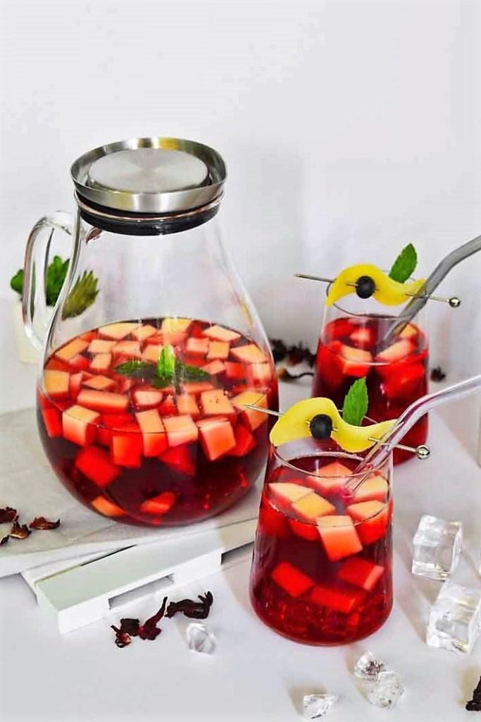 Hibiskus-Mango Eistee-Sommer Drinks-ballesworld