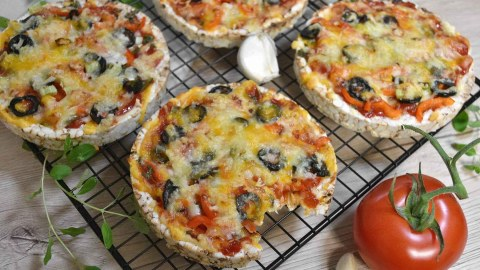Reiswaffel Mini-Pizza-Anrichten-ballesworld