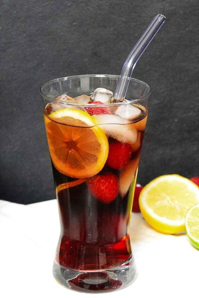 Cola Himbeerlikör Cocktail-Kalte Getränke-ballesworld