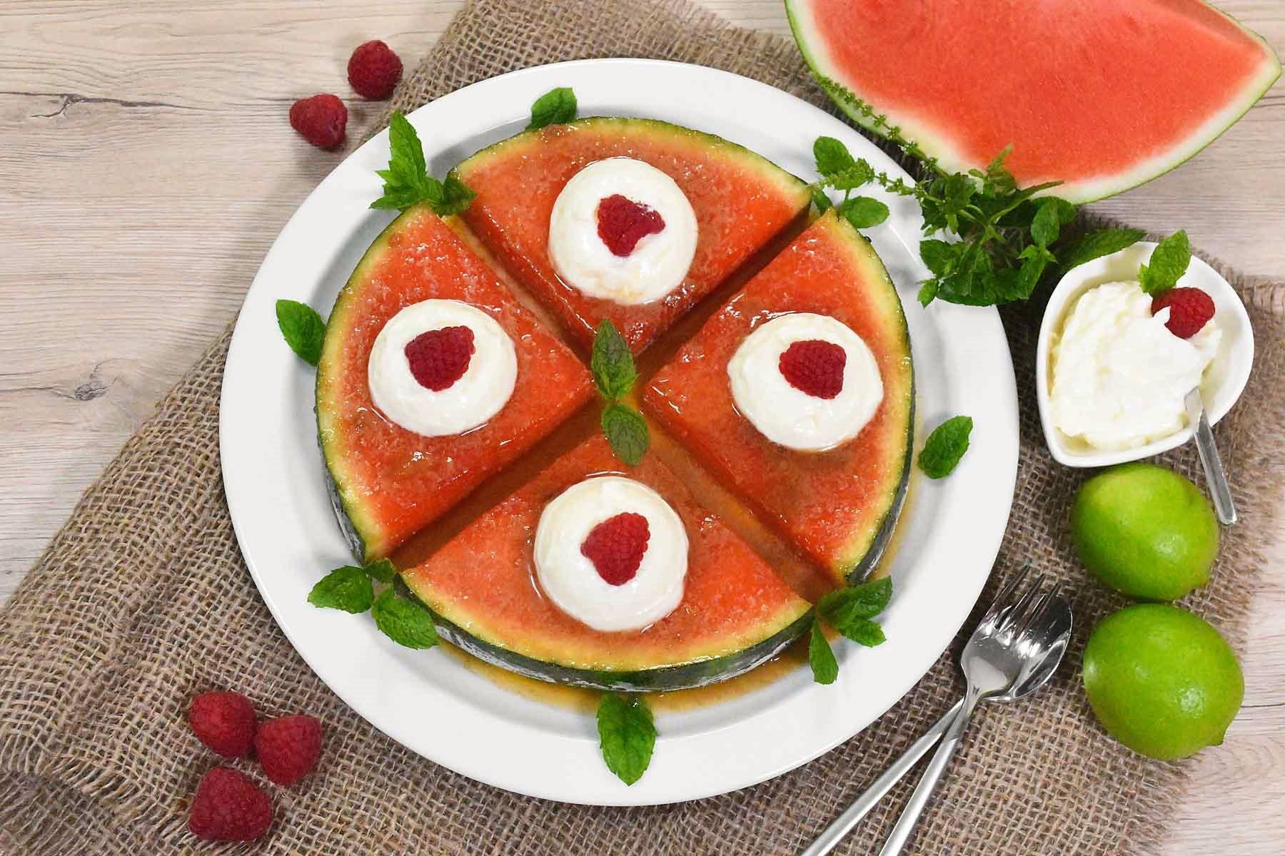 Karamellisierte Wassermelone