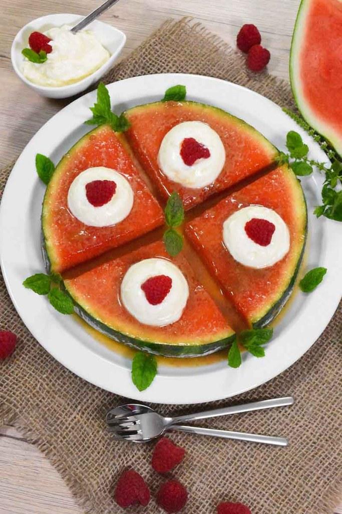 Karamellisierte Wassermelone-Rezeptideen-ballesworld