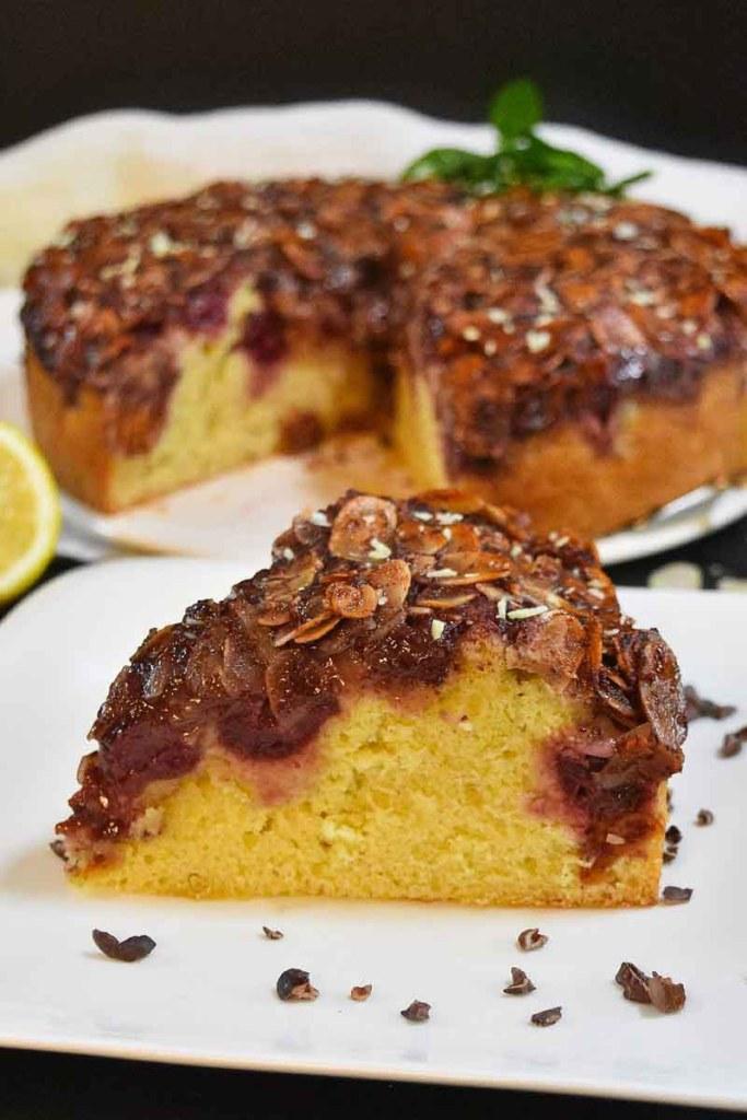 Kirschkuchen mit Mandel-Jam Kruste-Obstkuchen-ballesworld