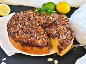 Kirschkuchen mit Mandel-Jam Kruste-Rezept-ballesworld