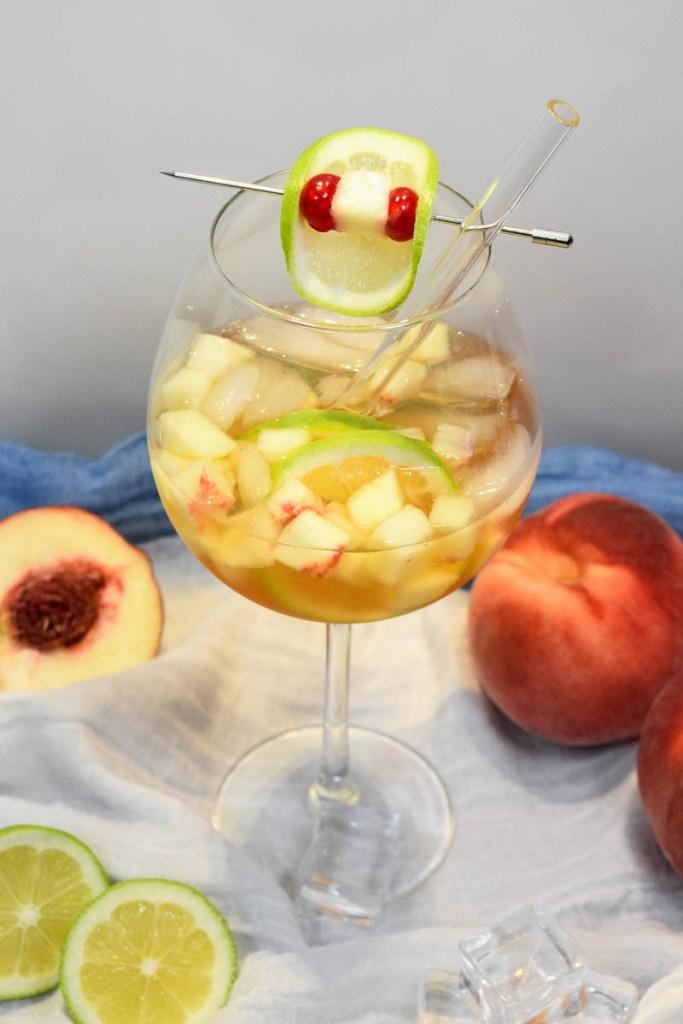 Prosecco Pfirsichlikör Spritz-Cocktail-ballesworld