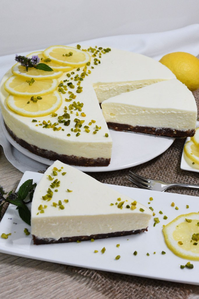 Zitronen-Käse Kuchen mit weißer Schokolade-Kuchen ohne backen-ballesworld