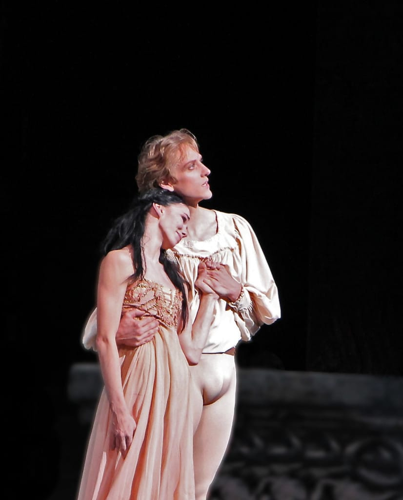 Natalia Osipova and David Hallberg, Romeo and Juliet, June 14, 2013. They are scheduled to dance the role on Memorial Day, May 25.