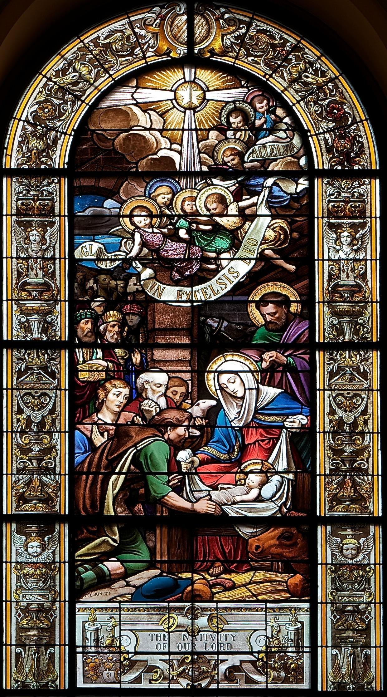 Alberti Nativity Artist Window