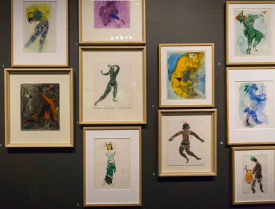Firebird ballet costume sketches by Marc Chagall