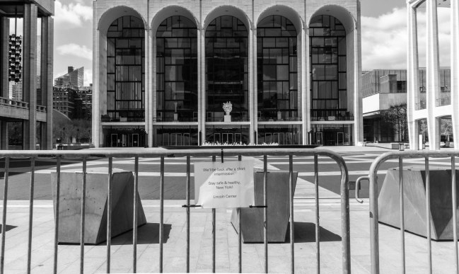 Lincoln Center Closed During the COVID Crisis