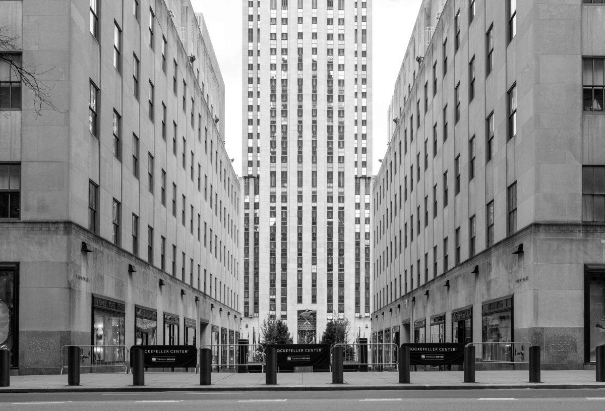 Rockefeller Plaza, Photos of New York City in COVID Quarantine