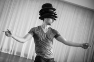 Having no Hispanic heritage, I come the culture with excitement. The dances, language, and traditions are all new to me and, as such, they are an opportunity to learn new ideas and expand my personal experience. It is wonderful! Photo: Christopher Bloom in rehearsal (c) Paula Lobo