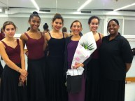 Gabriela with students and BH faculty member Yvonne Gutierrez.