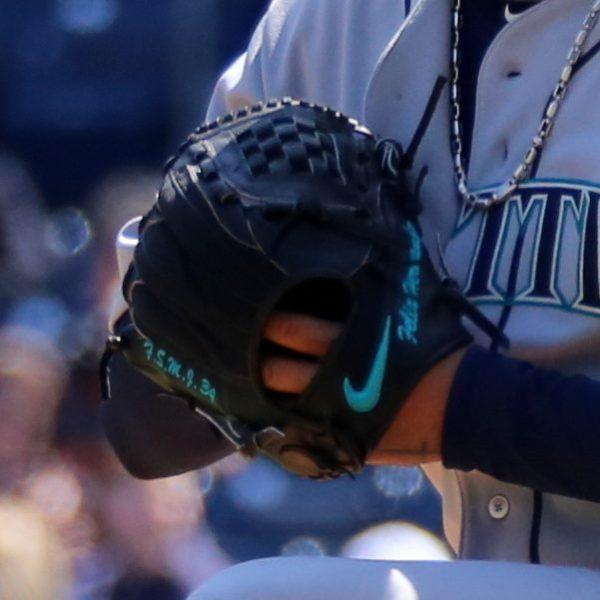 Felix Hernandez' Glove: Custom Nike Sha-do Elite J