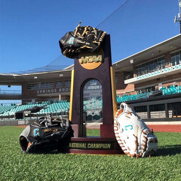 Coastal Carolina Easton baseball gloves