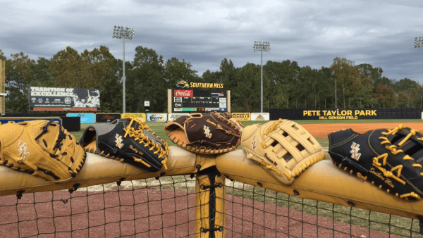 Southern Mississippi Easton baseball gloves