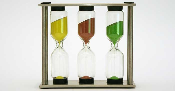 glass timer motivation