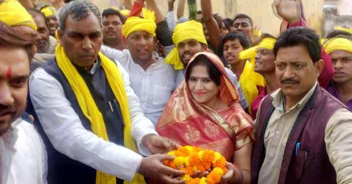 भासपा ने ऐन मौके पर दिया निर्दल जयश्री पाण्डेय को समर्थन