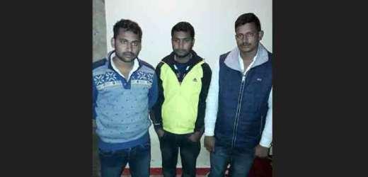 गोरखपुर में बलिया के इनामिया बदमाशों को पकड़ कर एसटीएफ ने रसड़ा पहुंचाया