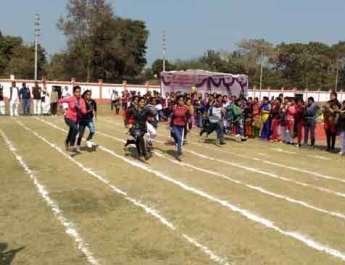 नगवां महिला महाविद्यालय में खेल कूद प्रतियोगिता का शुभारंभ