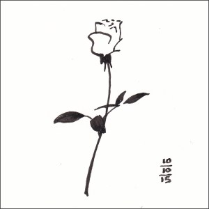 A Rose Is - Inktober 10
