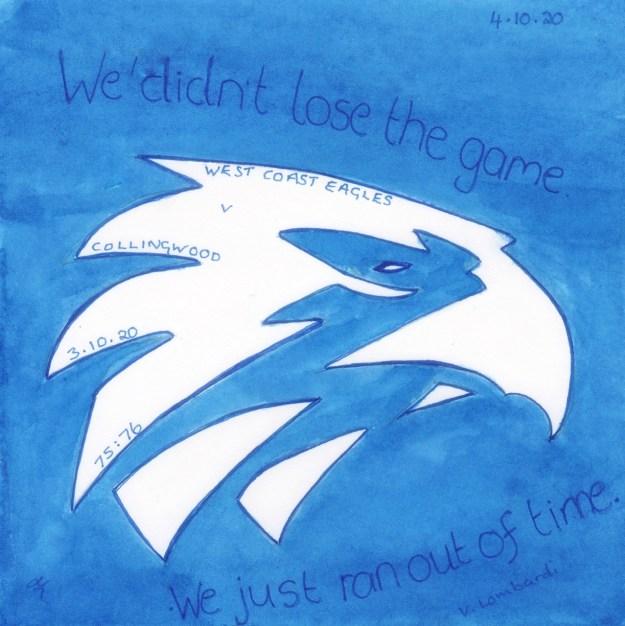 West Coast Eagles v Collingwood - #Inktober 2020 Day 3 - revised Day 4 - Helen Lock