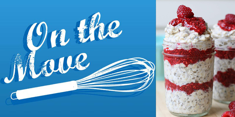 On The Move Recipe Series - Overnight Raspberry Oats