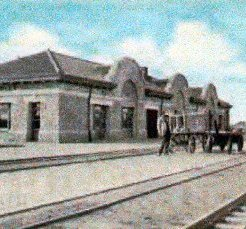 Santa Fe Depot in the Early Days