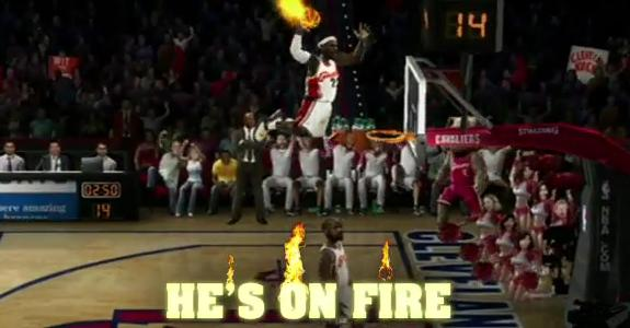 Image result for nba jam on fire