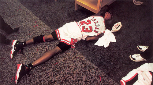 Image result for michael jordan collapses over dad