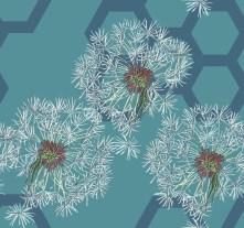 Dandelion Taraxacum - Teal, The Plant Hunter Collection