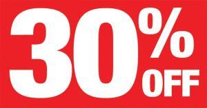 30% off Carpet cleaning discount voucher