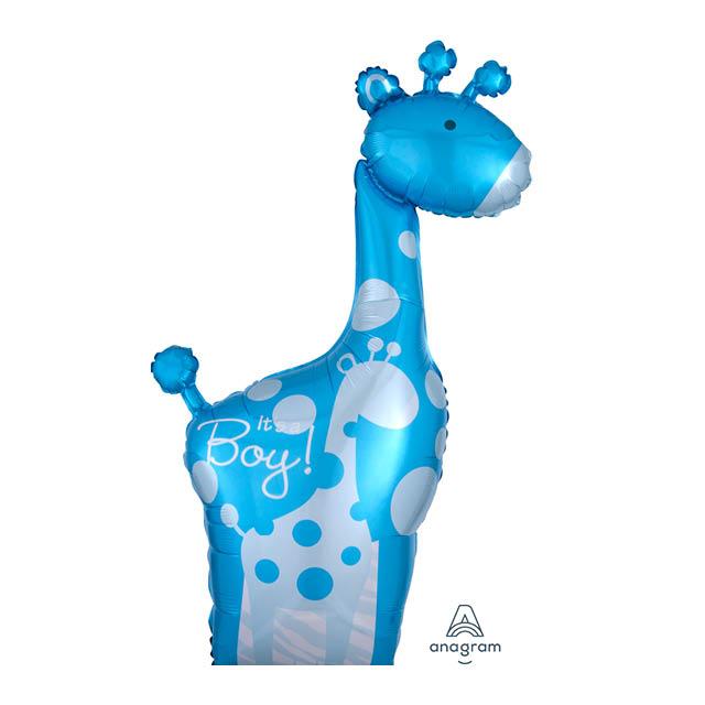 Helium Ballon Giraffe Boy 70 CM, geboorte, jongen