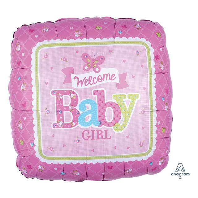 Helium Ballon Girl Butterfly 45 CM, geboorte, meisje