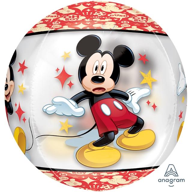 Heliumballon Minnie&Mickey Bol 40 CM, ballon mickey mouse, mickey mouse ballon, ballon van minnie mouse, minnie ballon