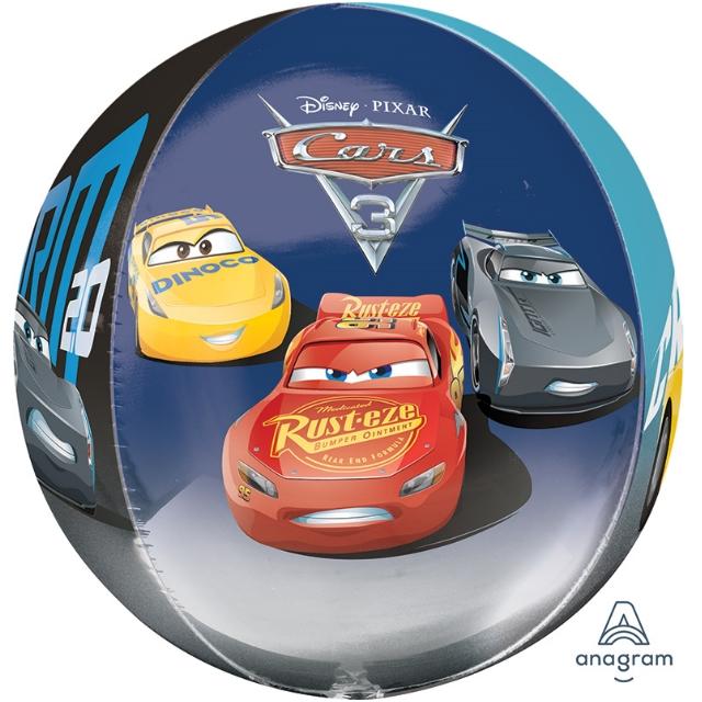 Helium Ballon Cars Bol 40 CM, ronde cars ballon, ballon cars, folieballon cars, cars lightning mc queen