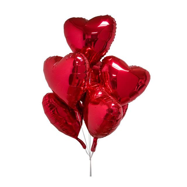 Helium Ballon Love Boeket (7 ballonnen), ballonboeket, tros ballonnen