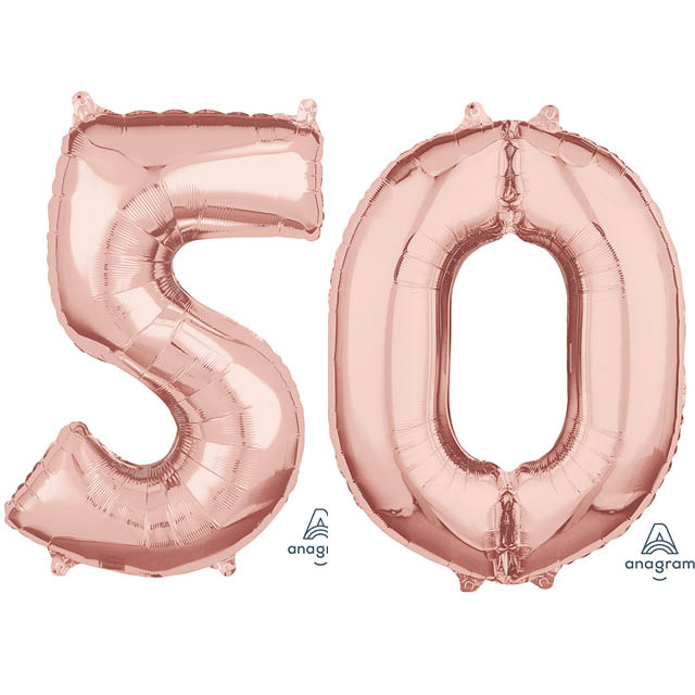 Helium Ballon Cijferset Rosé 70 CM 50