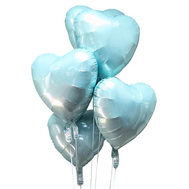 Helium Ballon Boeket Blauw (7 ballonnen), ballon versturen, helium ballon, boeket, tros ballonnen, ballon per post, ballon kado