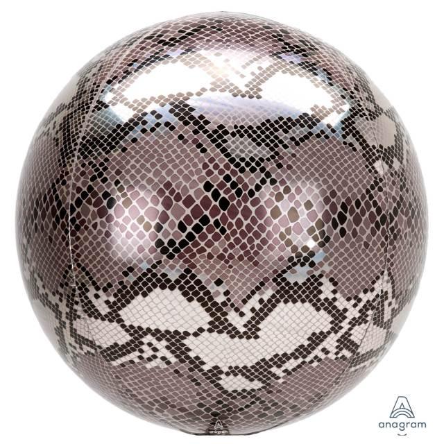 Helium Ballon Slangenprint Bol 40 CM, ballon per post, Greetz ballon, goedkope ballon, ballonnen