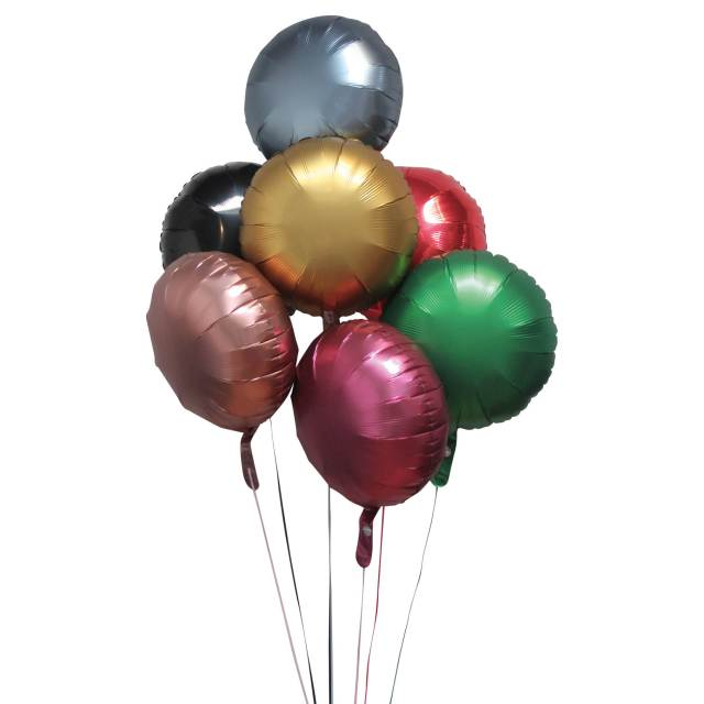 Helium Ballon Boeket Eigen Keuze (7 ballonnen), ballon versturen, ballon boeket, ballonnentros, tros ballonnen, ballon per post, Greetz ballon