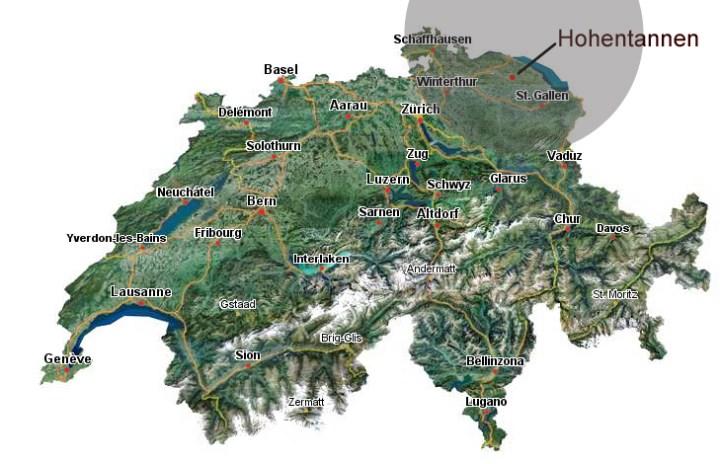 Karte mit Fahrtgebiet