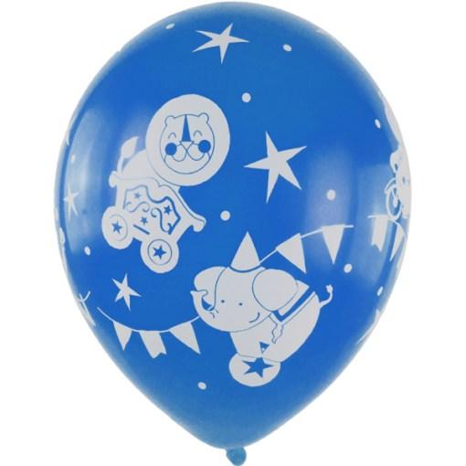 Latexballon Party Animals 28cm blau 1