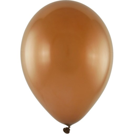 Latexballon 28cm metallic 66 braun