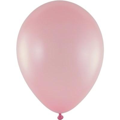 Latexballon 28cm metallic 783 hellrosa