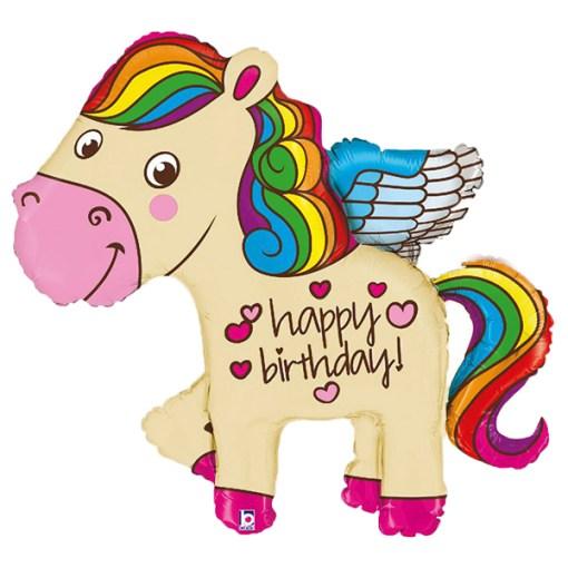 Happy Birthday Pegasus Folienballon
