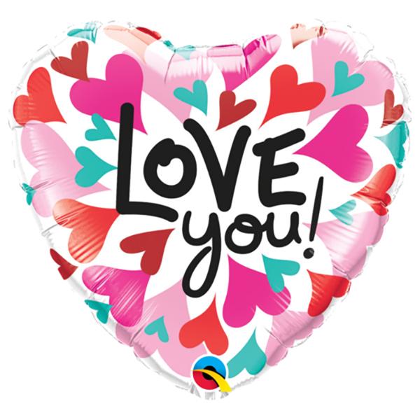 Love you herz Folienballon d 45cm