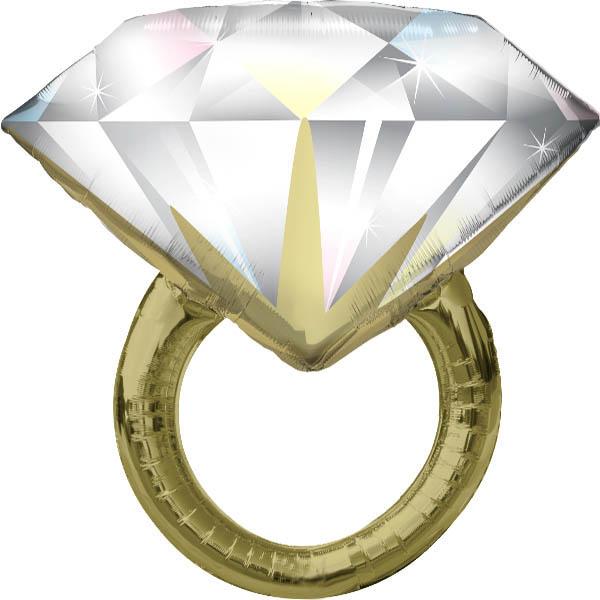 Diamant Ring Folienballon H 94cm