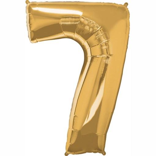 Folie Zahl 7 gold