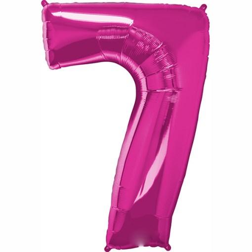 Folie Zahl 7 pink